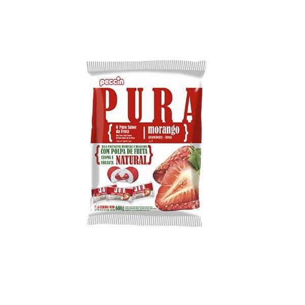 Bala Pura Morango Peccin 600g