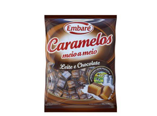 Bala Caramelos meio a meio leite e chocolate 660g Embaré