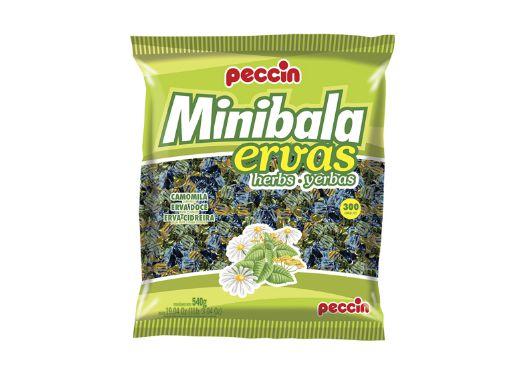 Minibalas Ervas (Camomila, Erva Doce, Erva Cidreira) Peccin 540g