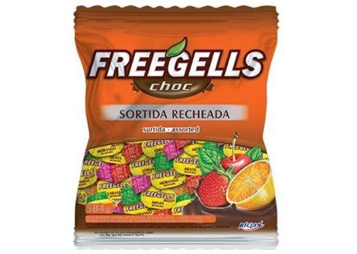 Bala Freegells Choc Sortida Recheada Riclan 584g