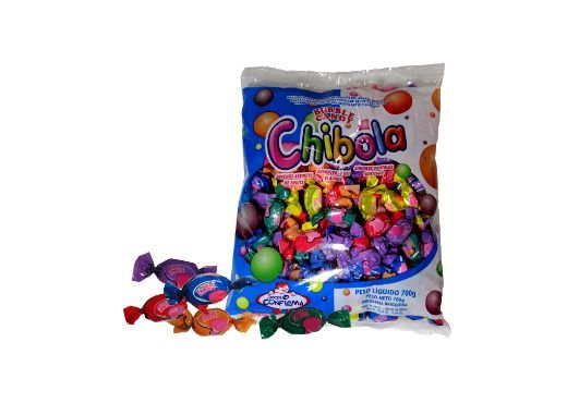 Bala Recheada com Chiclete Chibola Doll Confirma 600g