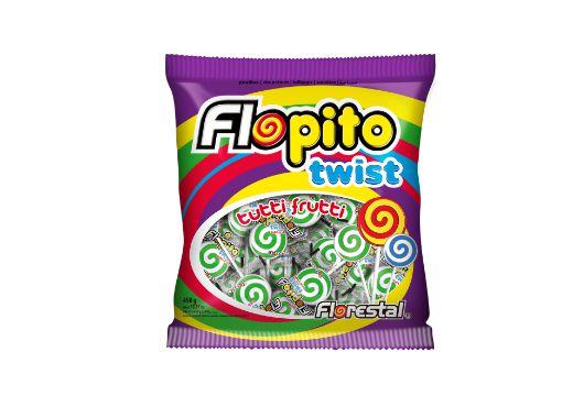 PIRULITO FLOPITO TWIST VERDE 450g