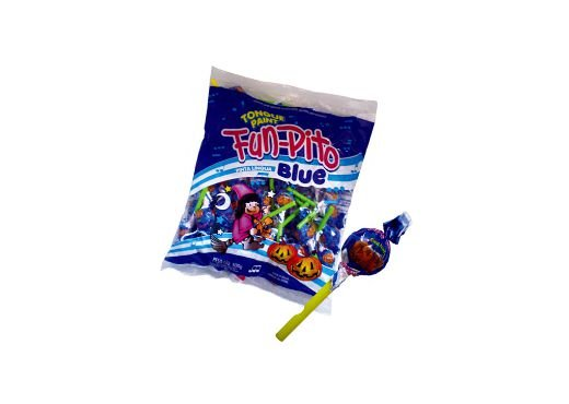 Pirulito Fun-Pito Blue Pinta a Língua Confirma 500g