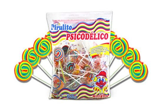 Pirulito Psicodélico Sabor Tutti Frutti Santa Rita 500g