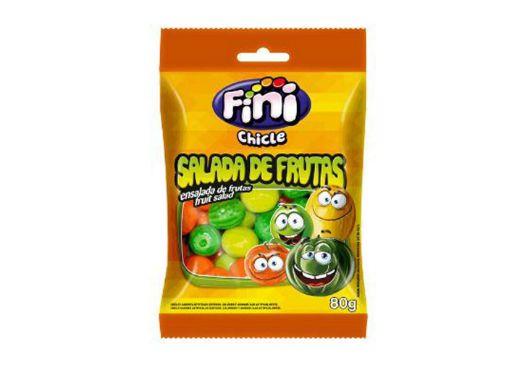 CHICLE FINI ÁCIDO SALADA DE FRUTAS CONTENDO 3 PACOTES DE 80g