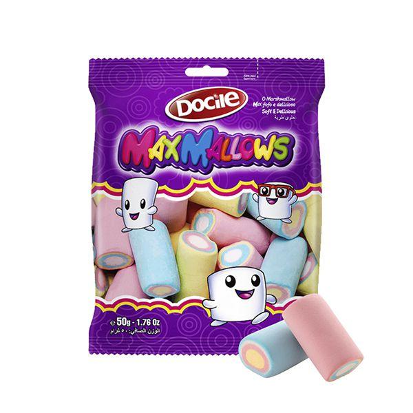 Marshmallow Docile Liso e Colorido 250g