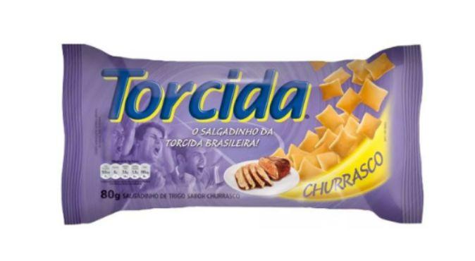 SALGADINHO TORCIDA SABOR CHURRASCO 3 UNIDADES DE 80g
