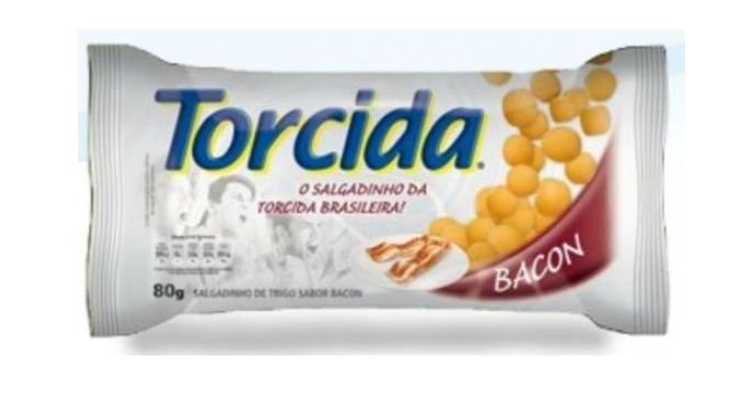 SALGADINHO TORCIDA SABOR BACON 3 UNIDADES DE 80g