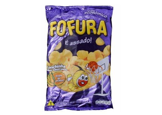 SALGADINHO FOFURA CONCHINHA SABOR CHURRASCO 100g