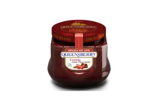 Geleia Fina QueensBerry sabor Cereja com Chocolate 320g