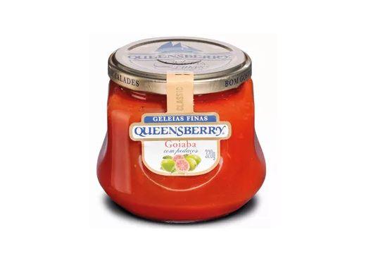 Geleia Fina QueensBerry sabor Goiaba com Pedaços 320g