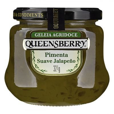 Geleia Agridoce Queensberry sabor Pimenta Suave Jalapeño 320g