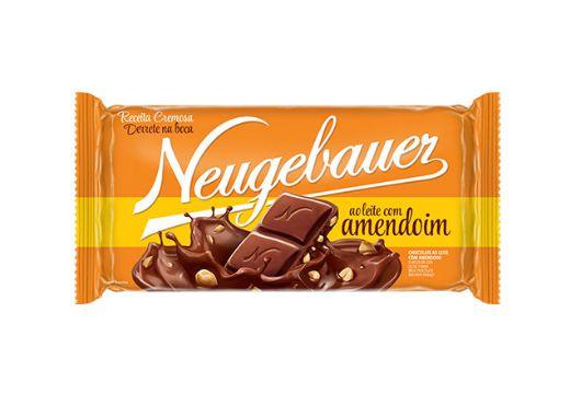 Barra de Chocolate Neugebauer ao leite com amendoim 90g