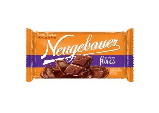 Barra de Chocolate Neugebauer ao leite com flocos 90g