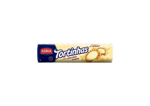 BISCOITO ADRIA TORTINHAS SABOR CHOCOLATE BRANCO 160g