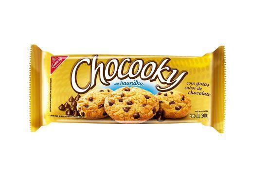 COOKIES CHOCOOKY SABOR BAUNILHA COM GOTAS DE CHOCOLATE 120g