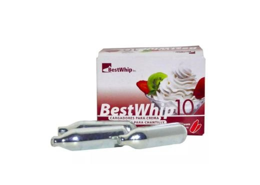 GAS BEST WHIP PARA CHANTILI COM 10 UNIDADES 800g