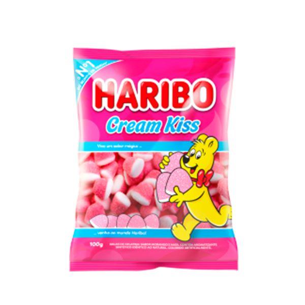 Bala Gelatina Haribo Cream Kiss 100G