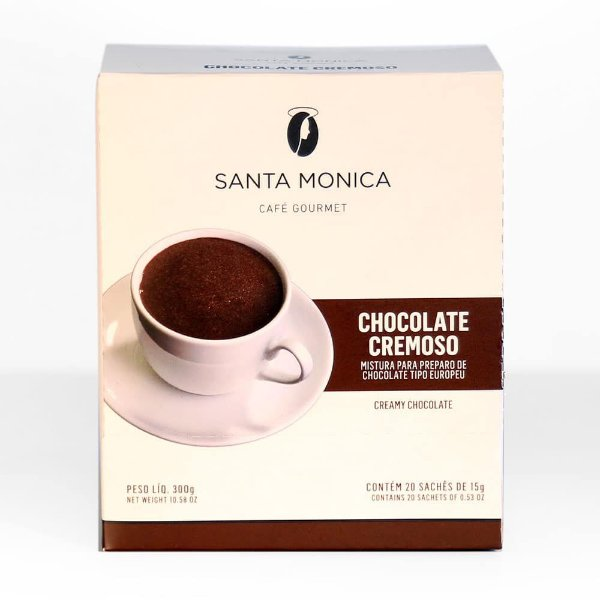 Chocolate Cremoso Santa Monica contendo 20 sachês