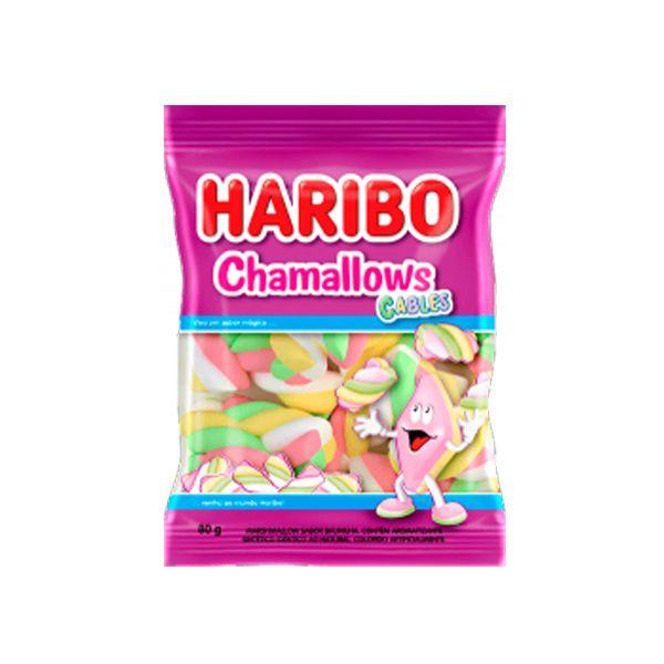 Marshmallow Haribo Chamallows Torção Cables Colorido 80g