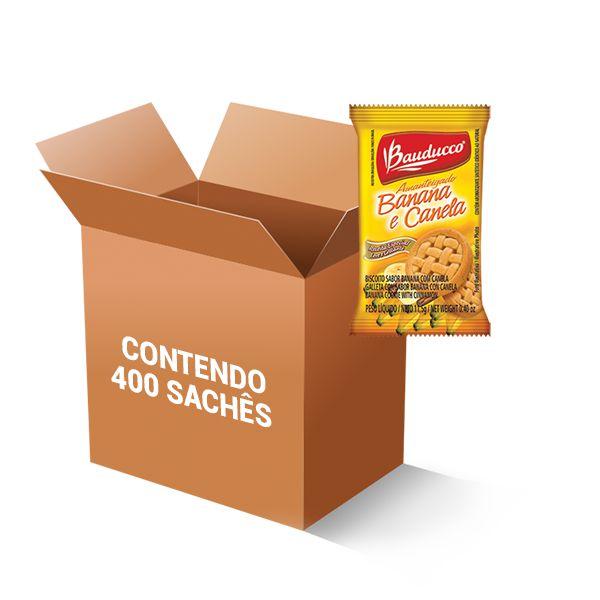 Biscoito Banana e Canela Sachê Bauducco contendo 400 unidades