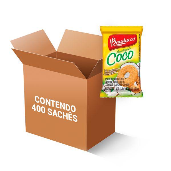 Biscoito Coco Sachê Bauducco contendo 400 unidades