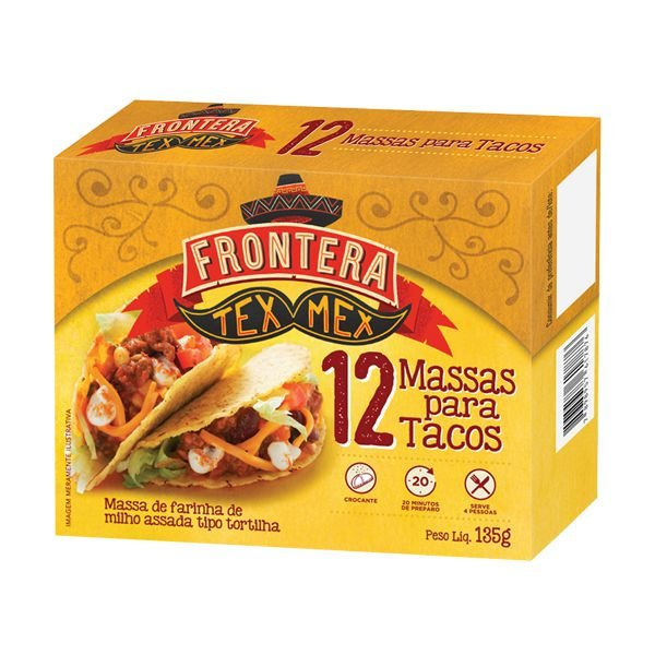Kit para Tacos Frontera Tex Mex contendo 12 massas para Tacos + Molho para Tacos