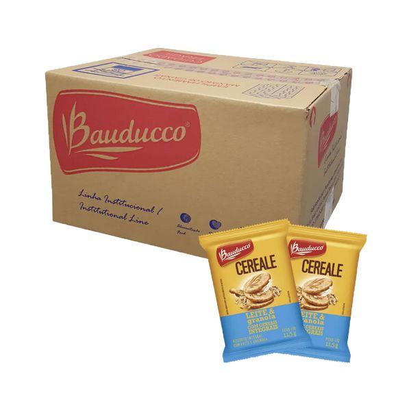 Biscoito Bauducco Cereale Leite & Granola com Cereais Integrais Contendo 400 Saches de 11,5g cada
