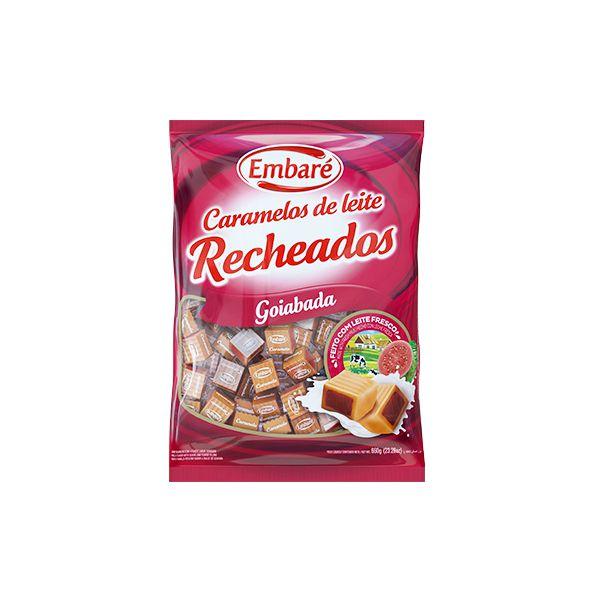 Bala Embaré Caramelos de Leite Goiabada 660g
