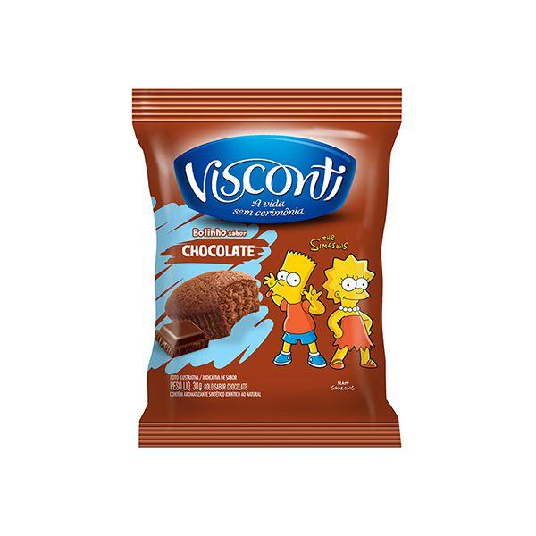 Bolinho Visconti Chocolate 30g contendo 14 unidades