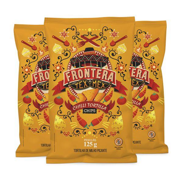 Tortilha de milho sabor picante frontera 125g contendo 3 unidades