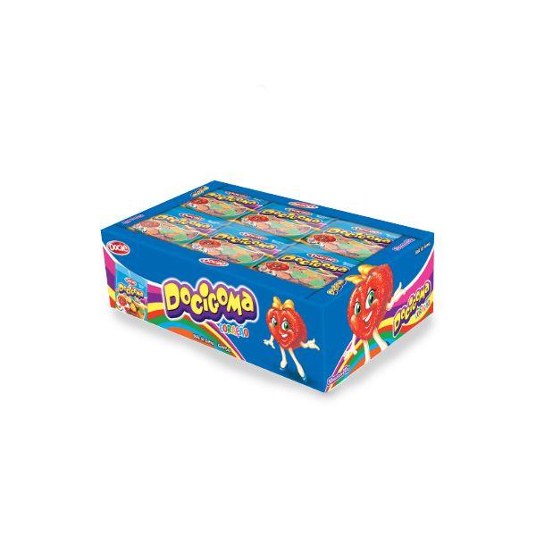 Bala de Goma Coração Docile Docigoma contendo 25 pacotes de 18g