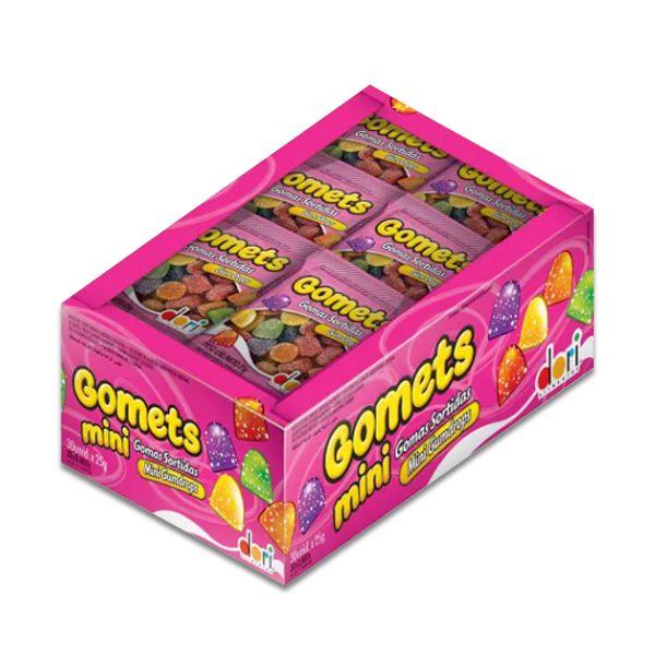 Bala de Goma Gomets Sino Dori contendo 30 pacotes de 20g cada