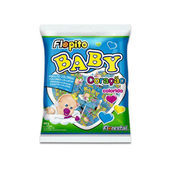 Pirulito Coração Baby Colorido Florestal 200g (média de 50 pirulitos por pacote)