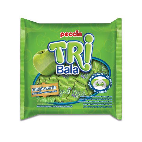Bala Peccin TriBala Maçã Verde 500g
