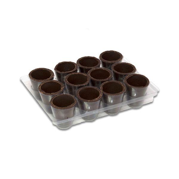 Copinho de Chocolate ao leite para Licor com protetor plástico Borussia contendo 48 unidades