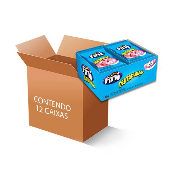 Bala Fini Dentaduras contendo 12 caixas