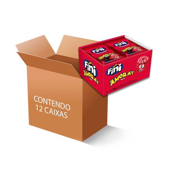 Bala Fini Amora contendo 12 caixas