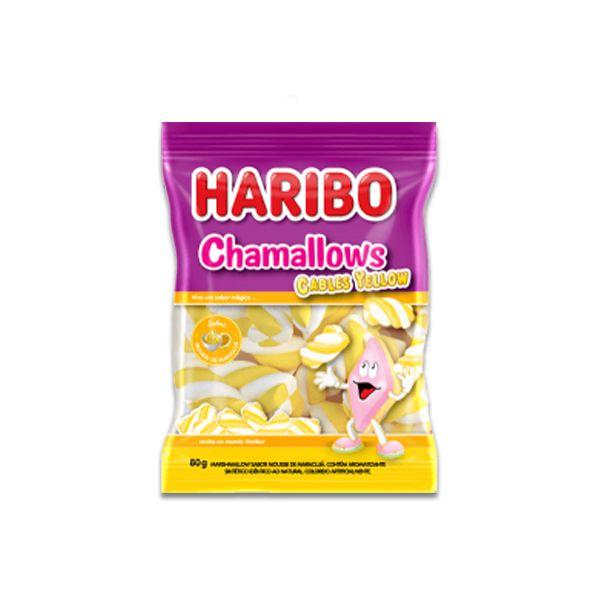 Marshmallow Amarelo sabor Maracujá Haribo Cables Yellow 250g