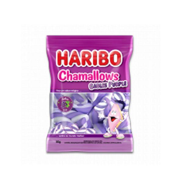 Marshmallow Roxo sabor Uva Haribo Cables Purple 250g