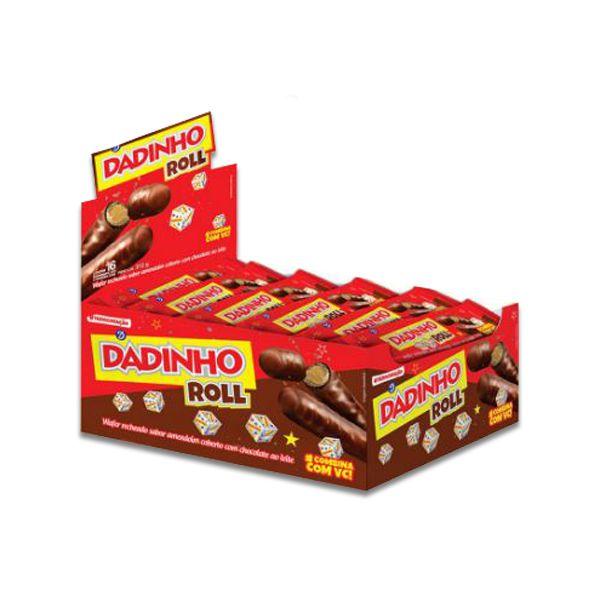 Dadinho Roll contendo 16 embalagens de 32g cada