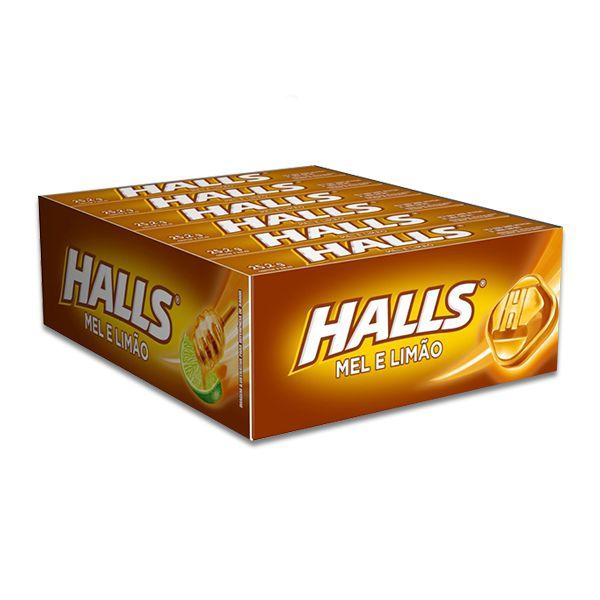 Halls Mel e Limão contendo 12 drops
