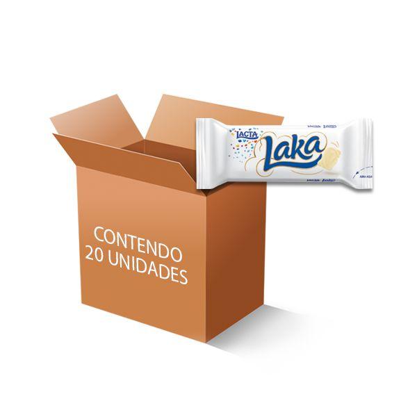 Chocolate Laka Branco Lacta contendo 20 unidades de 20g cada