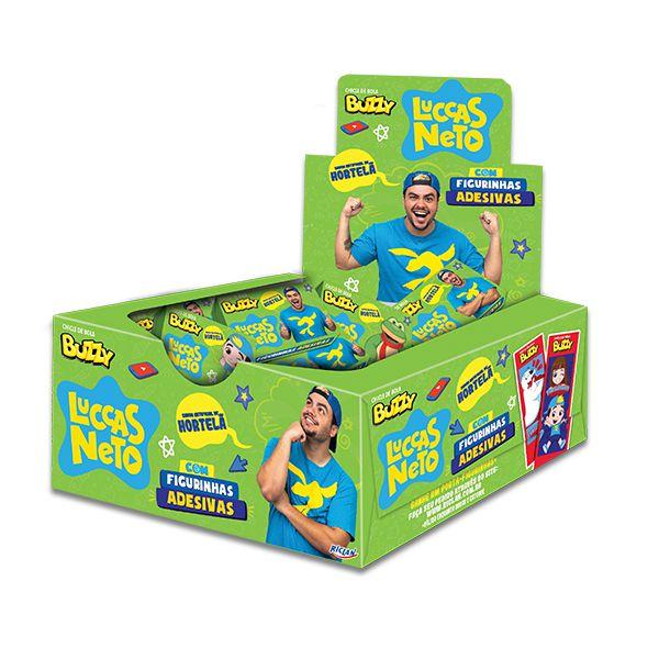 Chiclé Goma de Mascar Luccas Neto Hortelã contendo 100 unidades