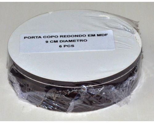 Porta copo/bolacha de chopp MDF para sublimacao com 6 peças