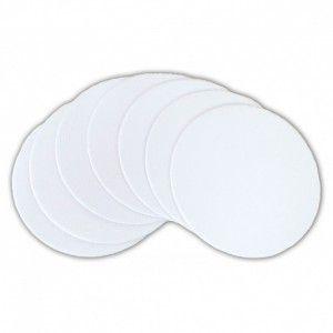 Porta copo/bolacha de chopp de papelao com tecido para sublimacao