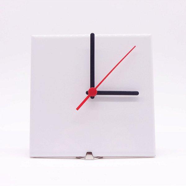 Relógio azulejo para sublimação - Branco