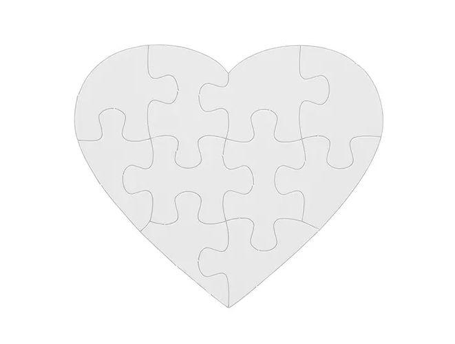 Quebra cabeça para sublimação - Coração Pct com 5