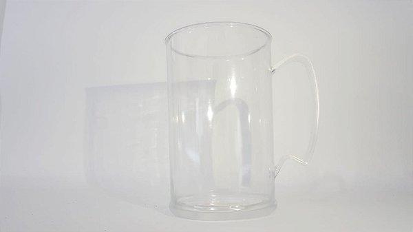 Caneca de chopp acrílico 400 ml - Transparente