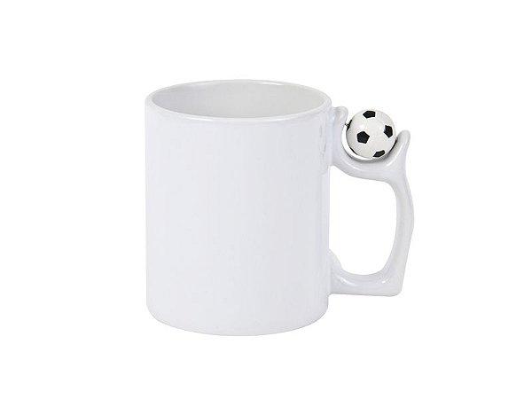 Caneca de ceramica / porcelana com alça futebol